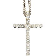 Absolutely divine. 18k Diamond Cross and Chain