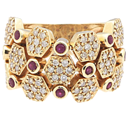 Be flexible – 14k Pavé Diamond Ruby Ring