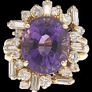 Twilight by the Bay – Amethyst Diamond 18k Ring