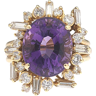 Twilight by the Bay – Amethyst Diamond 18k Ring