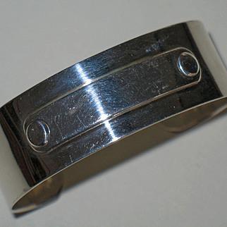 Modern Constructivist Sterling Silver Bracelet