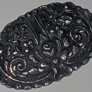 OLD Scandanavian 350 Alloy Silver Pin