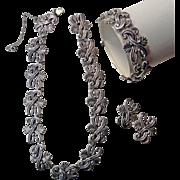 Margot de Taxco Sterling Silver Demi Parure Design Line 5204 5 ozt