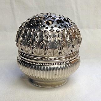 Antique Sewing 1873 Gorham Sterling Silver Box Thread String Holder