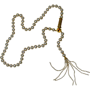 18k 14k Yellow Gold Citrine Clasp Cultured Pearl Drop Necklace