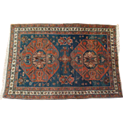Antique Tribal Kazak Rug Circa 1890's