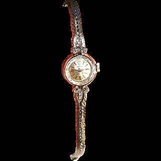 Retro 18 ROLEX PRECISION White Gold Lady's 1/2 Ct Diamond Watch Fine Watches