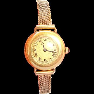 Retro C.H MEYLAN 18k & 14K solid Yellow Gold lady's 1 OZ Watch Fine Jewelry