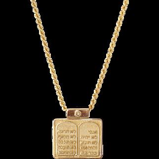 Sheenadi's Solid 18k Yellow gold Jewish Torah Menorah Pendant Fine Jewelry