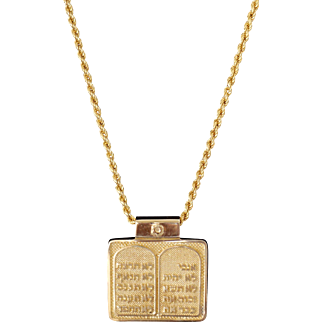 Sheenadi's Solid 18k Yellow gold Jewish Torah Menorah Pendant Fine Jewelry