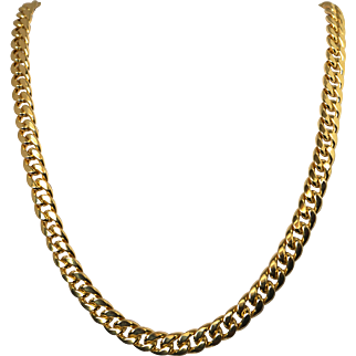 "Vintage 14k Yellow Gold Italian Necklace Chain 67.6 Gr, 26 1/4 "" Long Fine Jewel"