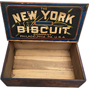 Antique Advertising General Store Biscuit Box New York  Phila Crate Early 1900s - Red Tag Sale Item