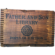 Father And Son Library Book Crate Primitive
