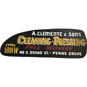Vintage Dry Cleaner Sign Penns Grove NJ