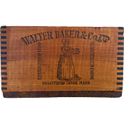 Antique Bakers Chocolate Crate
