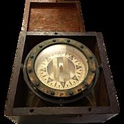 Ships Compass Dory Brass Mahoghany Case