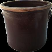 19th Century 2 Gallon Crock Lyons NY Redware