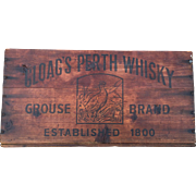 Antique Whisky Crate Grouse Brand Gloag & Son