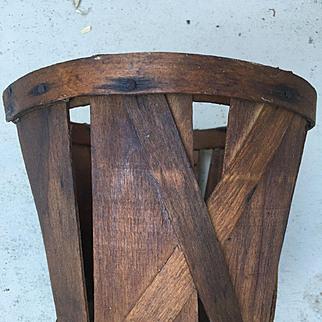 Antique 2 Quart Shaker Farm Basket Late 1800s Scarce