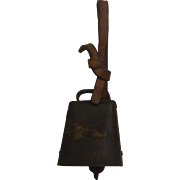 Antique Hand Forged Iron Cow Bell Primitive