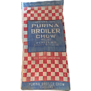 Vintage 100 LB Purina Feed Bag Americana