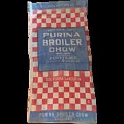 Vintage 100 LB Purina Feed Bag Americana
