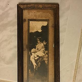 Rare Antique Sepia Print Water Nymph Hesser