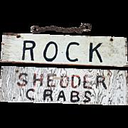 Vintage Sign Bait Shop Seafood