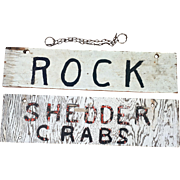 Vintage Sign Bait Shop Seafood