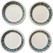 Set of 4 Butter Pats John Maddock Bedford