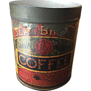 Antique Chase & Sanborn Coffee Tin Paper Label