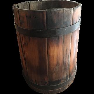 Primitive Firkin Bucket Wood Stave FREE Shipping