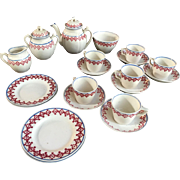 Antique Staffordshire Victorian Childs Tea Set Childrens Teaset