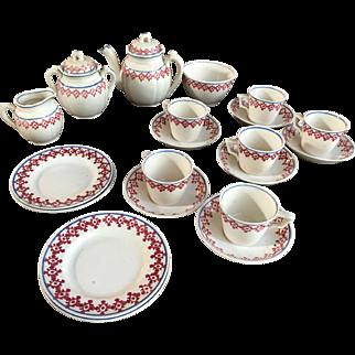 Antique Staffordshire Victorian Childs Tea Set Childrens Teaset