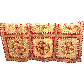 Vintage French Country Quilt Handmade