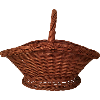 """Large 22"""" Vintage Gathering Basket Handle"""