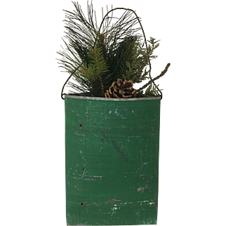 Vintage Galvanized Hanging Container Floral