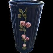 Vintage 1930s Weller Pottery Vase Blue Drapery