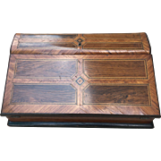 Antique Inlaid Lap Desk Traveling