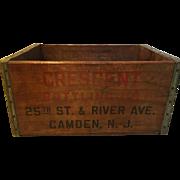 Vintage Bottling Company Wooden Crate Soda