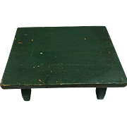 Vintage Green Paint Wooden Stool