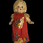 Vintage 1920s Googly Porcelain Flapper Doll