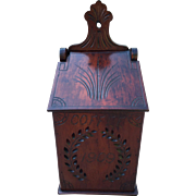 Antique Mahogany Coffee Wall Box 1909