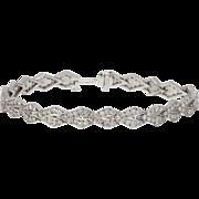 Art Deco Platinum and Diamond Geometric Arrow Shaped Bracelet