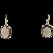 Ippolita Smoky Quartz 18K Yellow Gold Dangle Drop Earrings