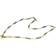 Antique Platinum and 14K Gold Watch Fob Chain Necklace