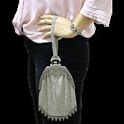 Sterling Silver Vintage Mesh Handmade Handbag Purse