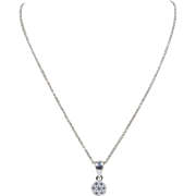 Simple 0.5 Carat Diamond Cluster 14K Gold Pendant and Necklace