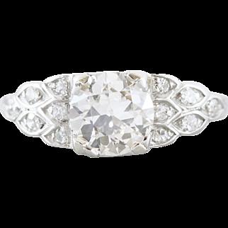 Vintage Transitional Cut Diamond Engagement Ring | Jenna