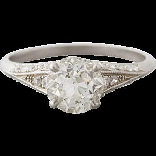 1.37 Old European Cut Diamond Engagement Ring | Kylie